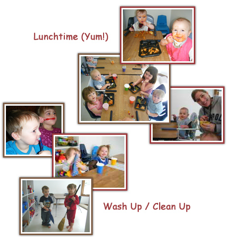 lunchtime - wash up - clean up